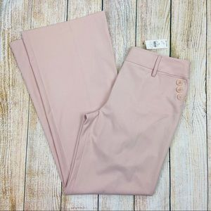 New LOFT Pink Ann Fit Flare Leg Dress Pants